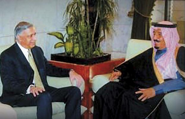 Shaukat Aziz with Salman bin Abdul-Aziz Al Saud