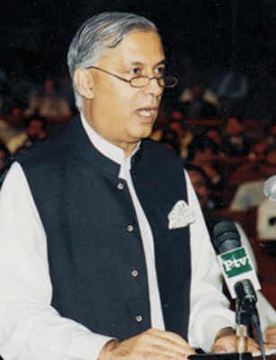 Shaukat Aziz Addressing Parliament