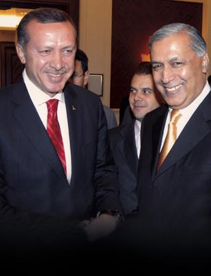 Shaukat Aziz with Recep Tayyip Erdogan